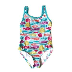 Gymboree Tropical Fish One Piece Swimsuit Girl's 6